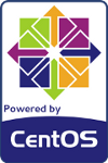 powered by centos logo